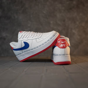 Nike Air Force 1 Low Overbranding White Red Blue