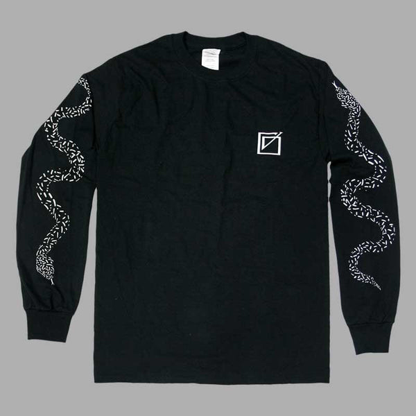 GORGON CITY SNAKE LONG SLEEVE BLACK T-SHIRT