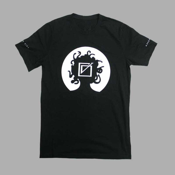GORGON CITY HEAD LOGO BLACK T-SHIRT