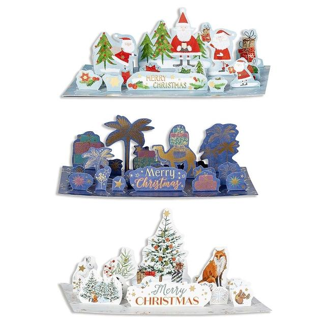 Pop-Out Advent Calendar Cards  - pack of 3