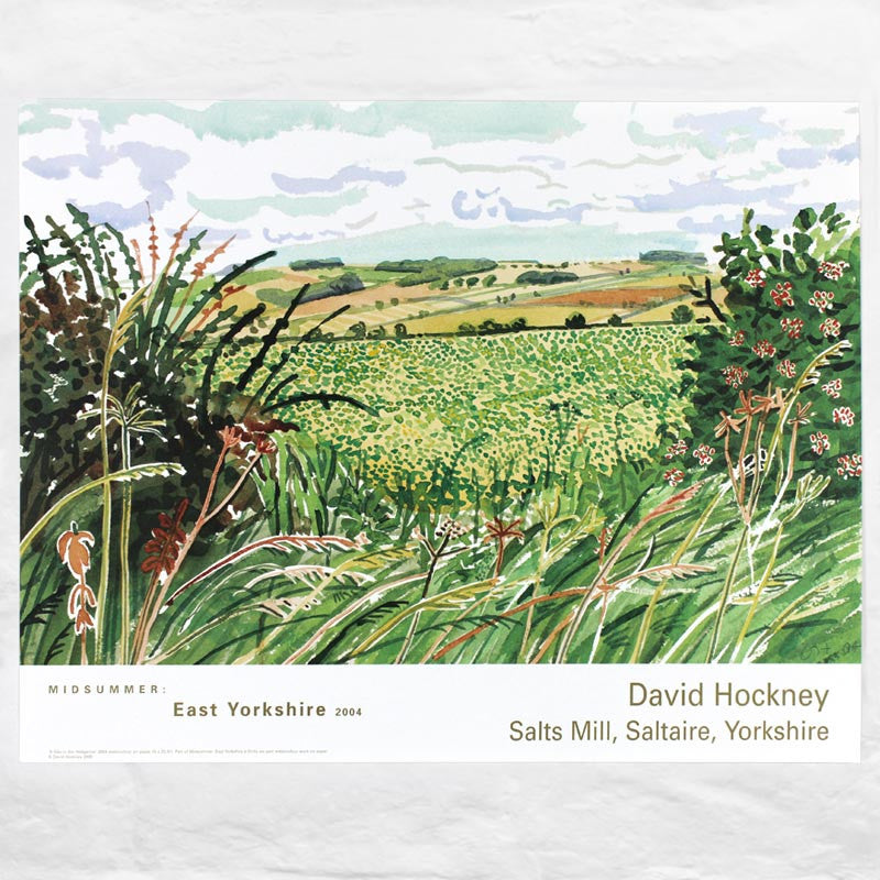 A Gap in the Hedgerow (from Midsummer: East Yorkshire) poster by David Hockney