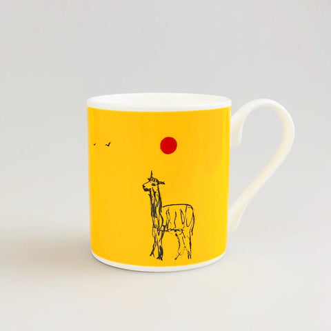 Yellow Alpaca Mug by Kitty North