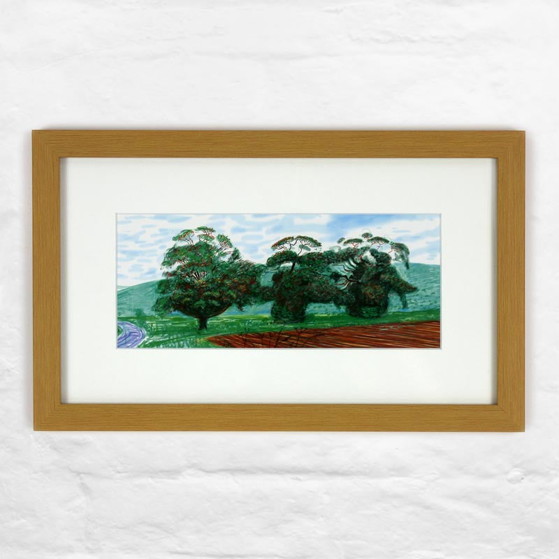 Autumn Trees Near Thixendale (Mini-Frame) by David Hockney