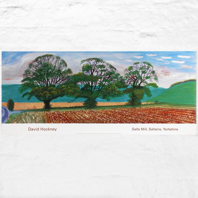 Autumn Trees Near Thixendale poster by David Hockney