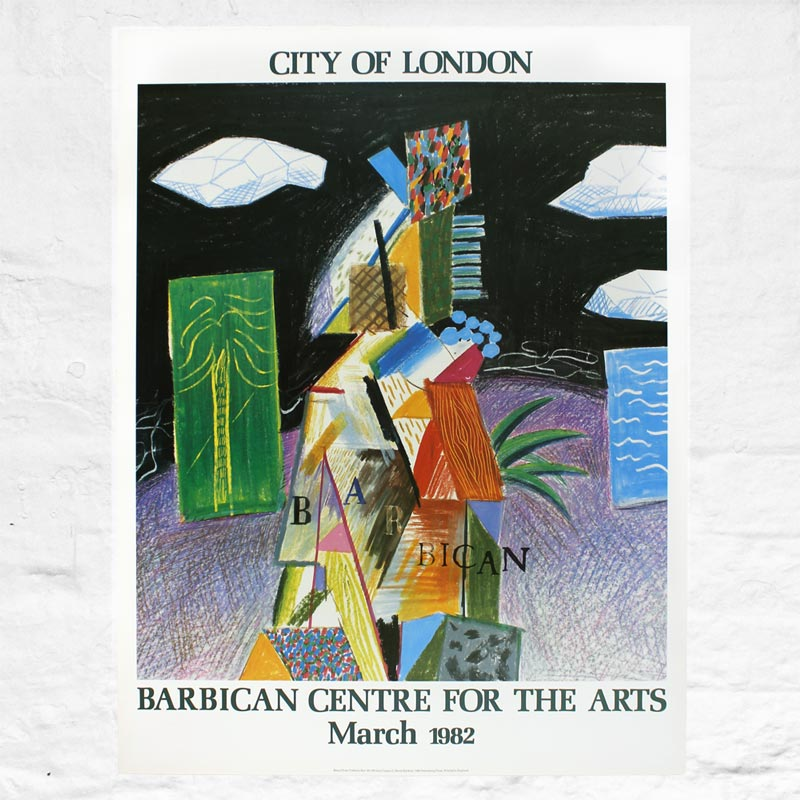 Barbican Centre for the Arts, Original Poster (March 1982) by David Hockney