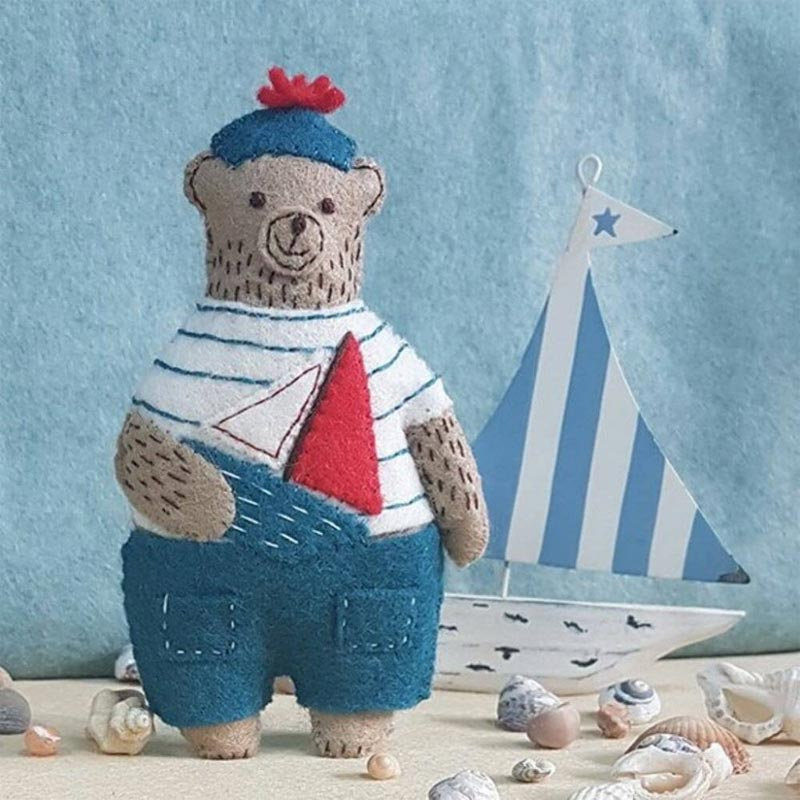 Corinne Lapierre Marcel the Sailor Bear Felt Cloth Kit