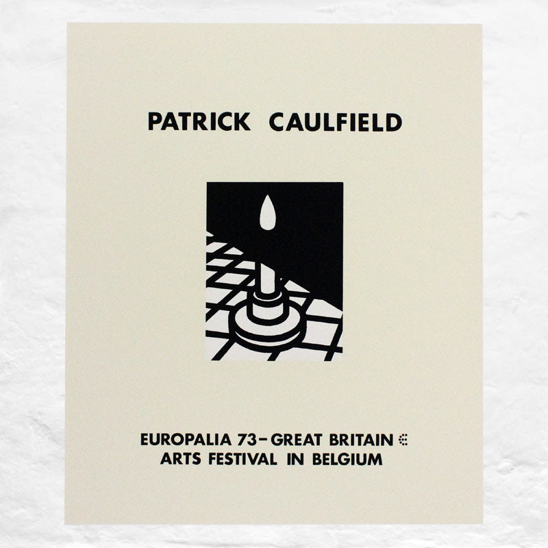 Candle poster by Patrick Caulfield (Europalia, Brussels, 1973)