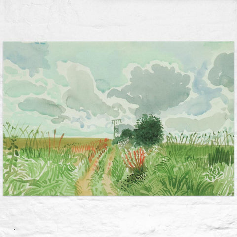 Cart Track and Pylon (from Midsummer: East Yorkshire) Poster by David Hockney