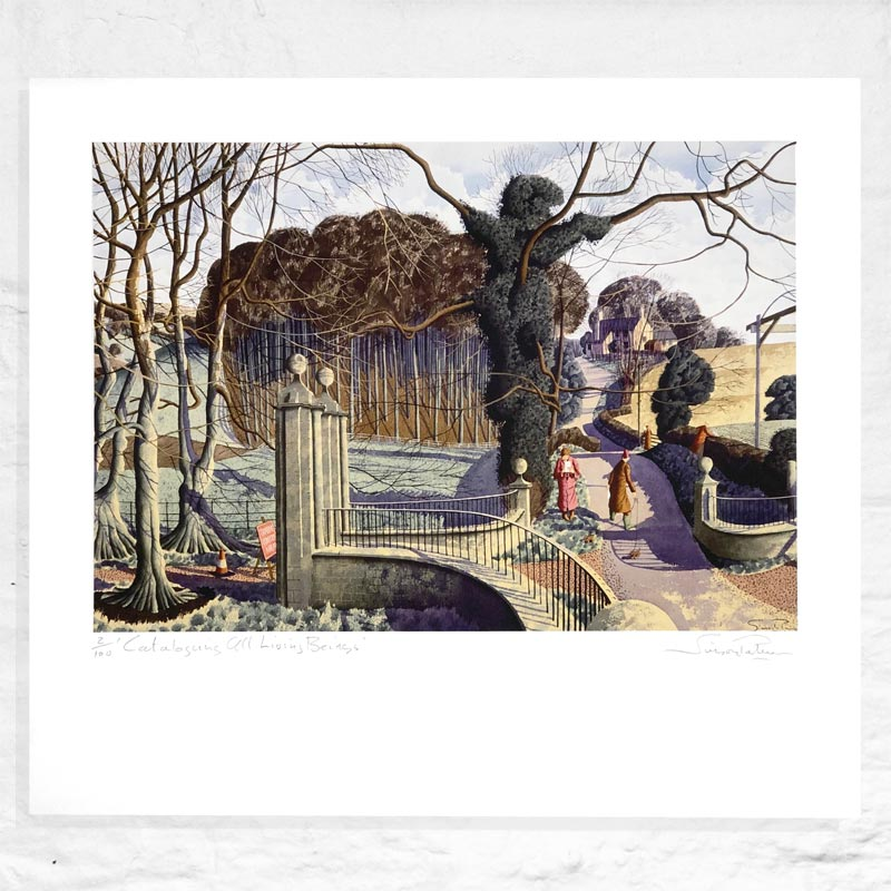 Cataloguing All Living Beings - Limited Edition Signed Print by Simon Palmer