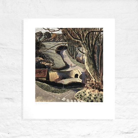 Cycling Home - Signed Limited Edition Print by Simon Palmer