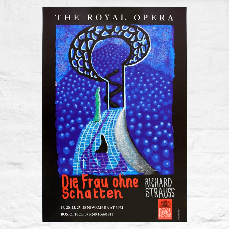 Die Frau Ohne Schatten (Royal Opera House, London) Poster by David Hockney