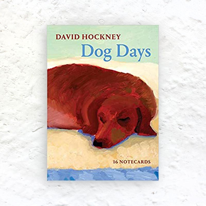 Dog Days by David Hockney - 16 Notecards