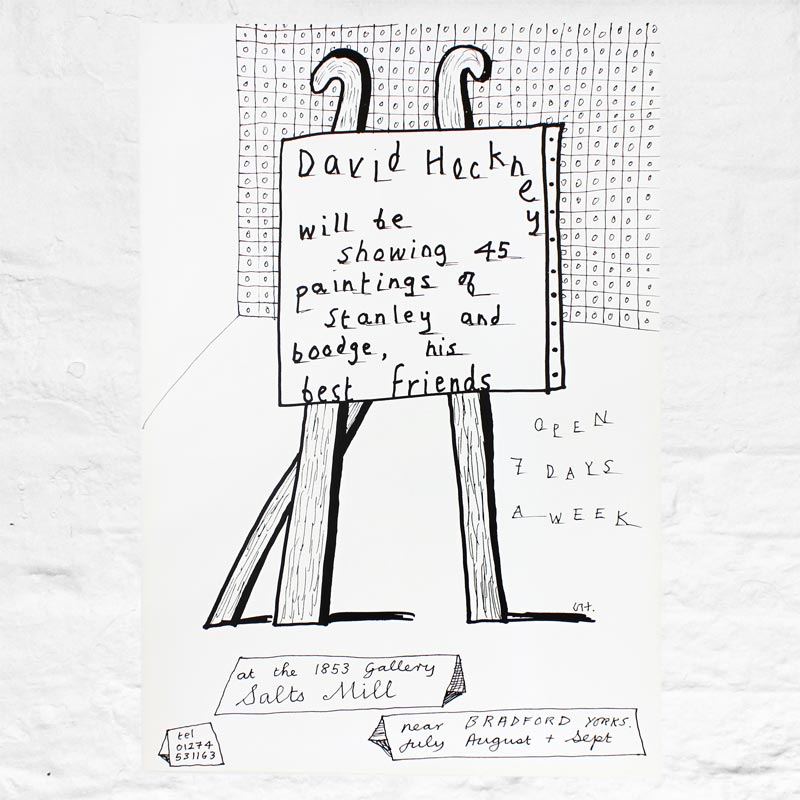 Dog Show Exhibition Poster by David Hockney