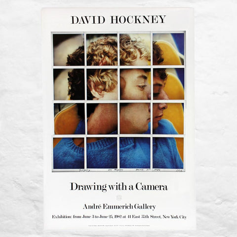 Drawing with a Camera Exhibition Poster (1982) by David Hockney