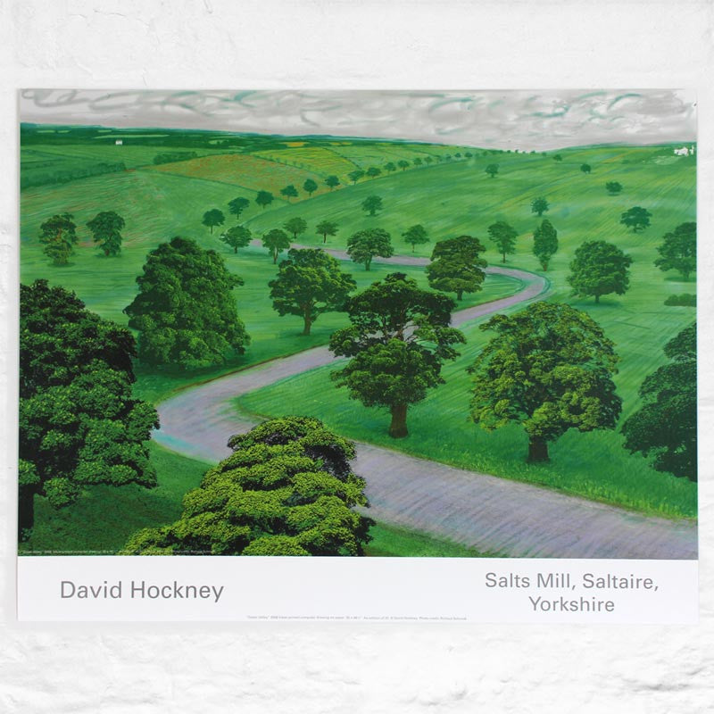 Green Valley poster by David Hockney