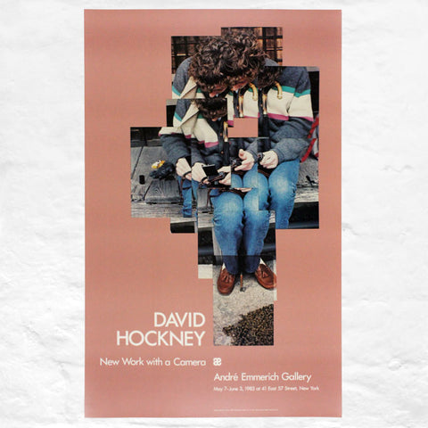 Gregory Loading his Camera poster by David Hockney (Andre Emmerich Gallery, New York, 1983)