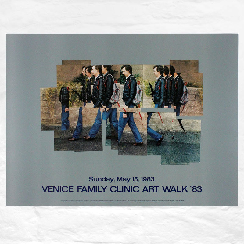 Gregory Walking poster by David Hockney (Venice Family Clinic Art Walk, 1983)