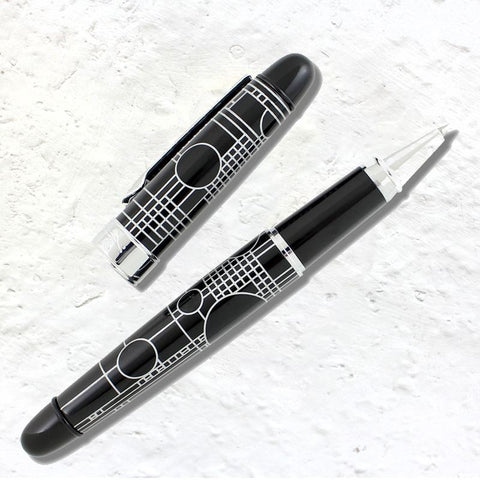 Frank Lloyd Wright Playhouse Black Roller Ball Pen