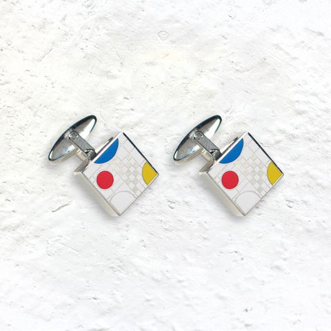 Frank Lloyd Wright Playhouse White Cufflinks