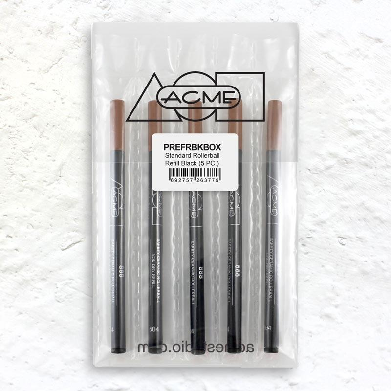 Acme Standard Rollerball Refill Black (5 PC)