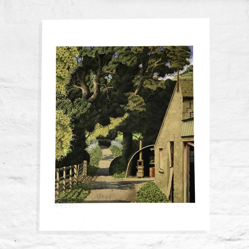 High Sutton - Signed Limited Edition Print by Simon Palmer