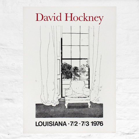 Home poster by David Hockney (Louisiana Art Museum, Denmark, 1976)