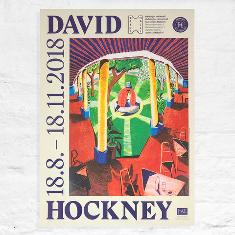Hotel Well Exhibition Poster by David Hockney
