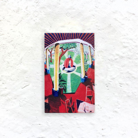 Hotel Well Fridge Magnet by David Hockney