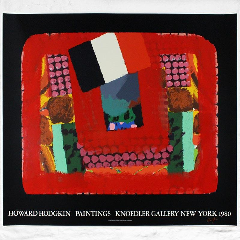 In a French Restaurant, 1982: large silkscreen poster by Howard Hodgkin (signed)
