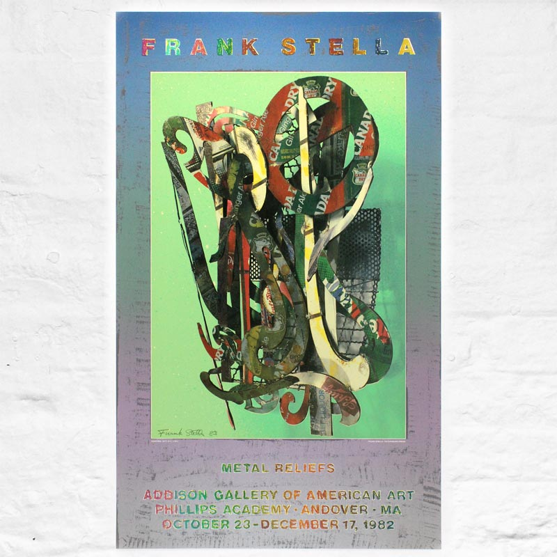 Katsura 1977: signed poster by Frank Stella (Addison Gallery, 1981)