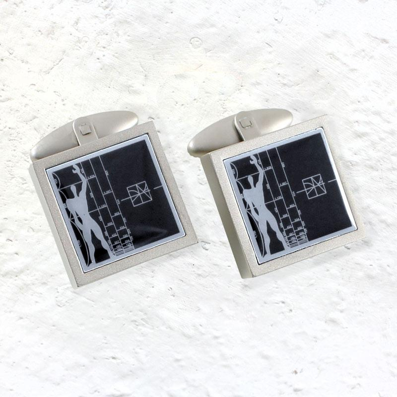 Le Modulor / Figure cufflinks inspired by Le Corbusier