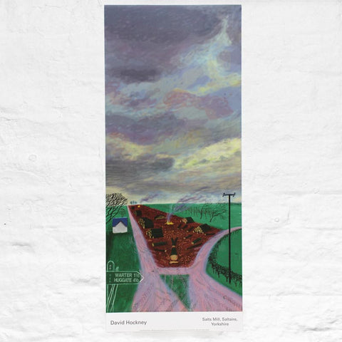 Less Trees Near Warter poster by David Hockney