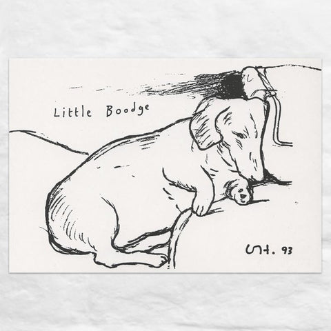 Little Boodge Mini Poster by David Hockney