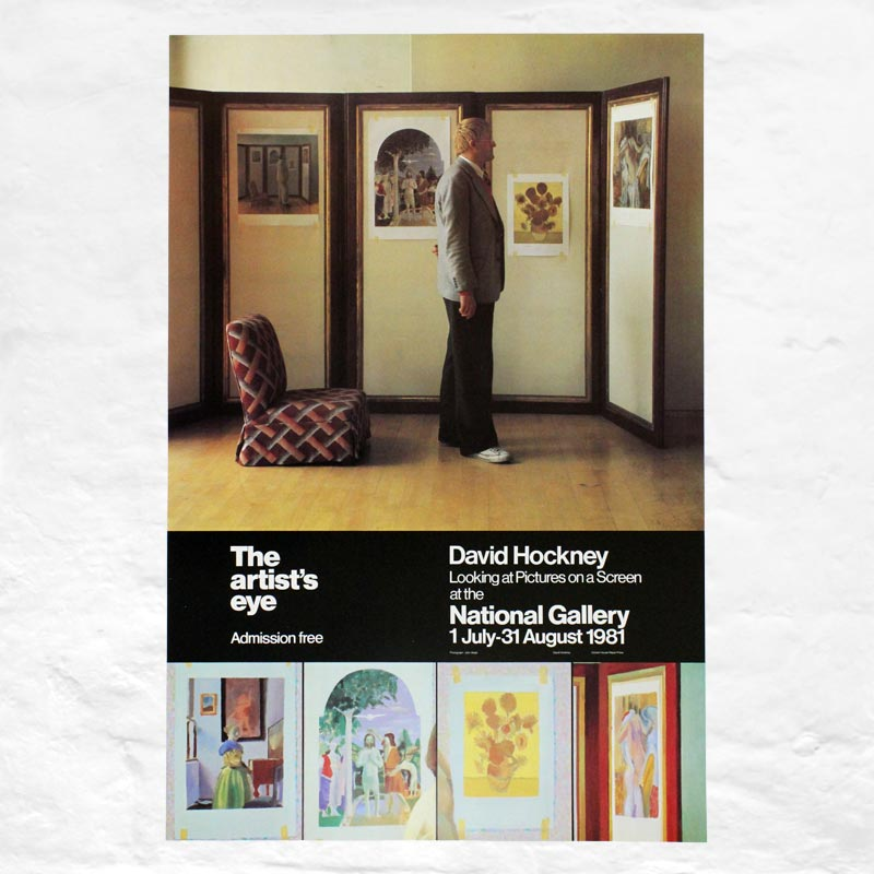 Looking at Pictures on a Screen poster by David Hockney (The Artist's Eye, National Gallery, London 1981)