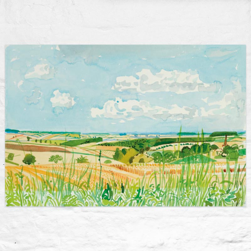 Looking Towards Huggate (Midsummer: East Yorkshire) poster by David Hockney
