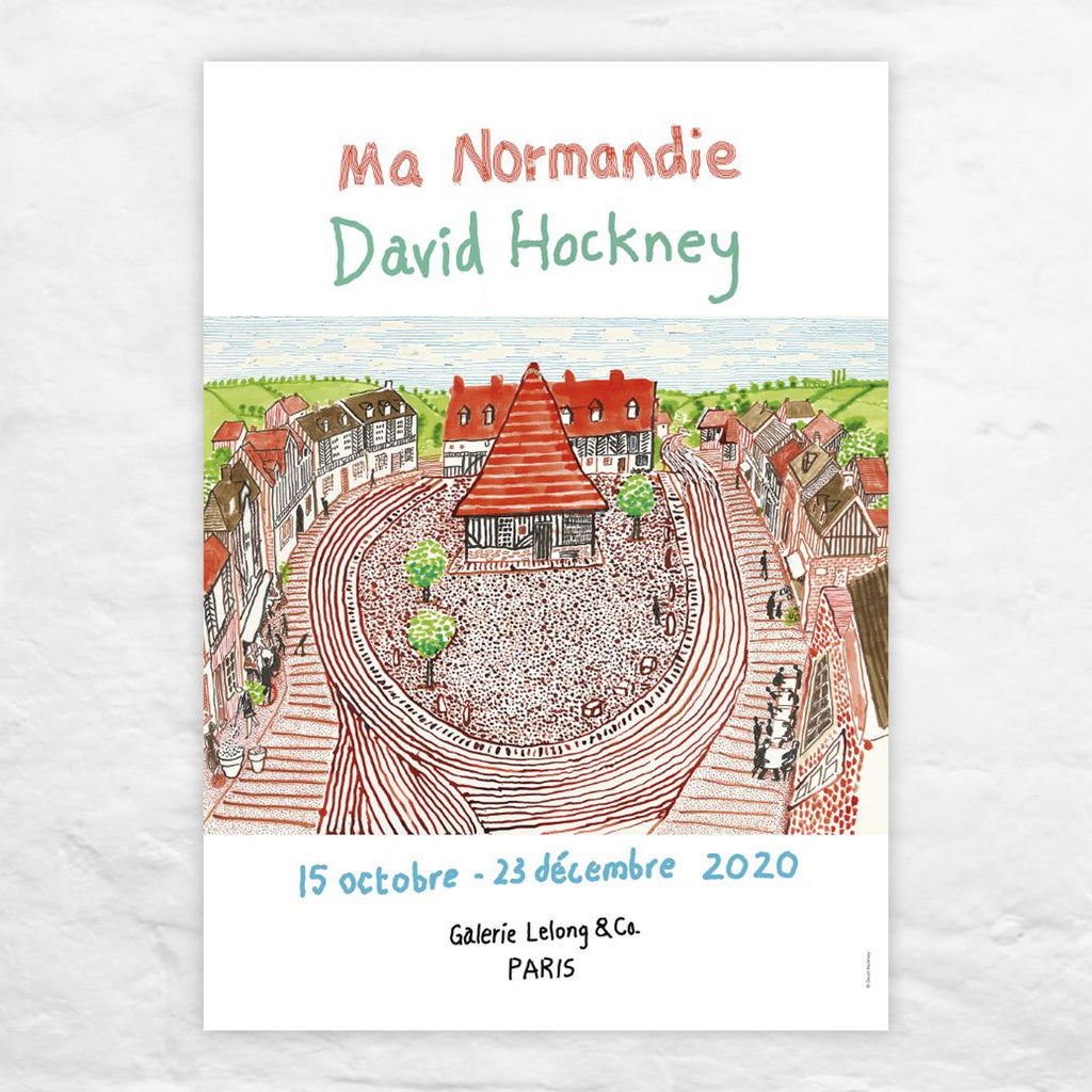 Ma Normandie poster by David Hockney (Galerie Lelong, Paris, 2020)