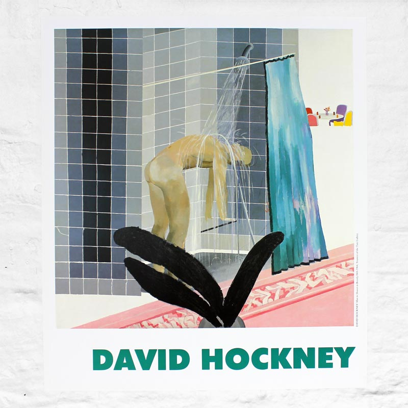 Man in Shower in Beverly Hills (1964) Poster by David Hockney