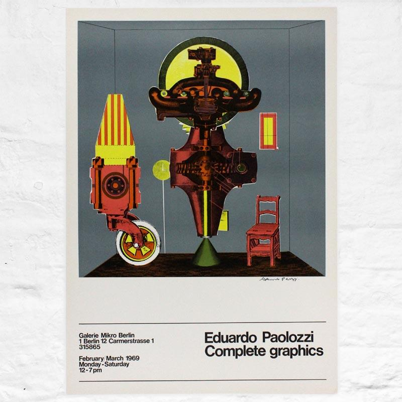 Metaphysical Translations: signed poster by Eduardo Paolozzi (Galerie Mikro, 1969)