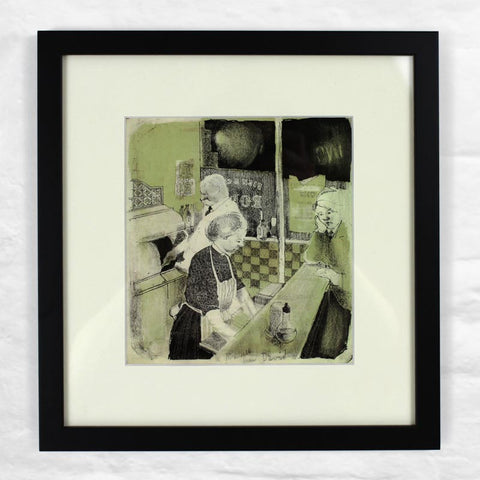 Fish & Chip Shop (1954) Mini Framed by David Hockney