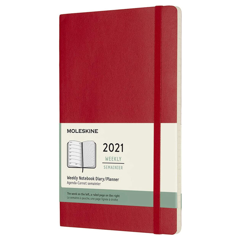 Moleskine Red Weekly Notebook Diary / Planner 2021