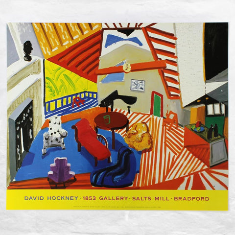 Montcalm Interior at 7 o'clock Exhibition Poster by David Hockney