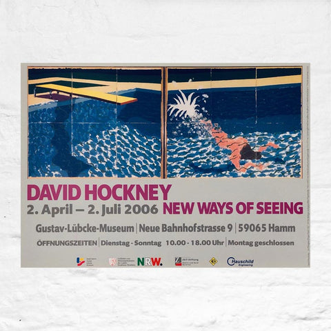 New Ways of Seeing (Le Plongeur / Paper Pool) poster by David Hockney