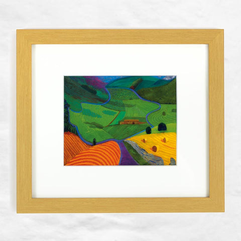 North Yorkshire print (Mini Framed) by David Hockney