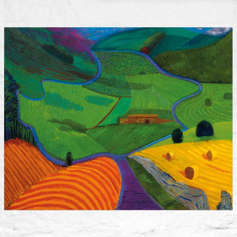 North Yorkshire poster by David Hockney