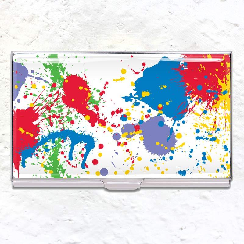 Paint Splash business card case (des. Norman Moore)