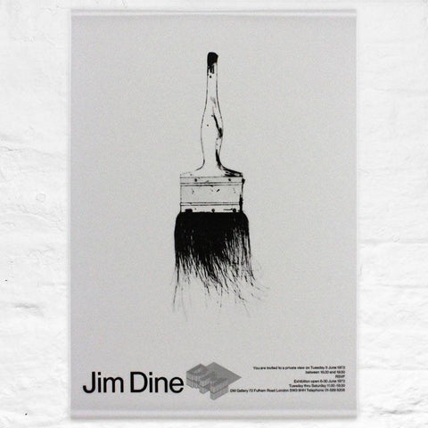 Paintbrush (DM Gallery 1971) poster by Jim Dine