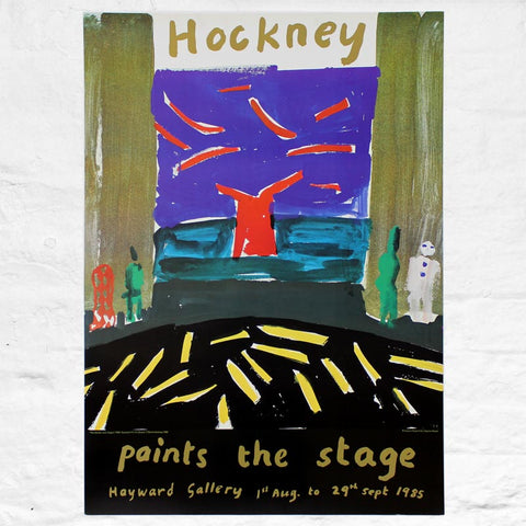 Paints the Stage Hayward Gallery Exhibition Poster by David Hockney