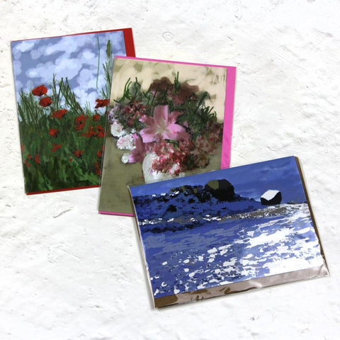 Paul Hockney Greetings Card Pack (x3)