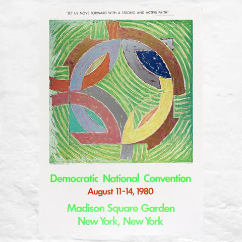 Polar Coordinate IV poster by Frank Stella (Democratic Convention, 1980)