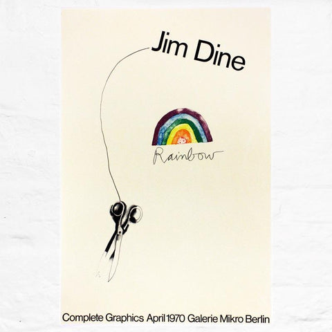 Rainbow Scissors (Gallerie Mikro 1970) poster by Jim Dine
